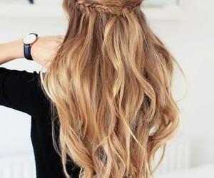 hair, long hair, and tinte image