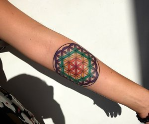 art, inked, and sacred geometry image