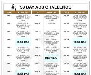 abs challenge, abs workout, and 30 day abs challenge image