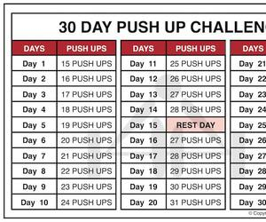 workout routine, push up workout, and pushup challenge image