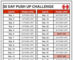 workout routine, push up challenge, and 30 day push up challenge image