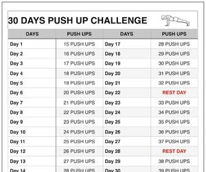 workout routine, push up challenge, and chest workout image