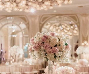 wedding, flowers, and beautiful image
