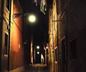 alley, dark, and gaslight image