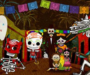 colorfull, dia de muertos, and fiesta image