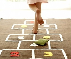 hopscotch and child image