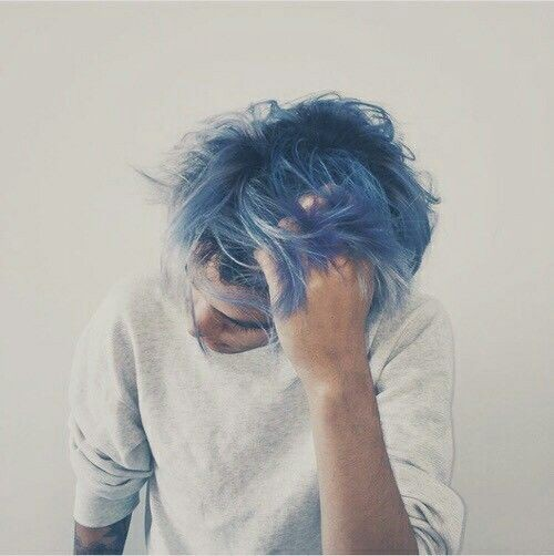 blue, boy, and hair image