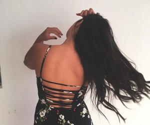 back, longhair, and dress image