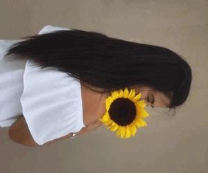 flowers, hair, and longhair image