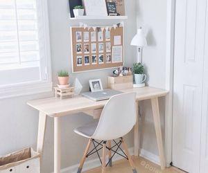 room, desk, and design image