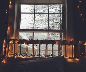 light, winter, and room image