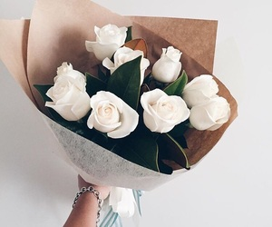 beauty, bouquet, and white image