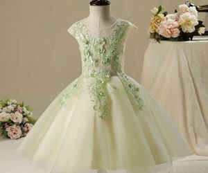 ball gown, girls, and flower girl dresses image