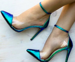 shoes, heels, and mermaid image