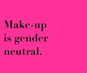 female, feminism, and make-up image