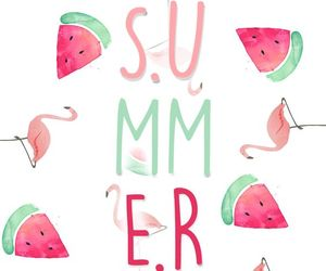 wallpaper, summer, and watermelon image