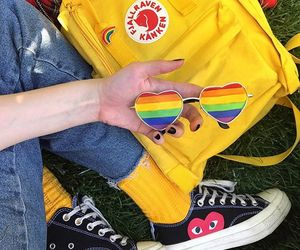yellow, aesthetic, and rainbow image