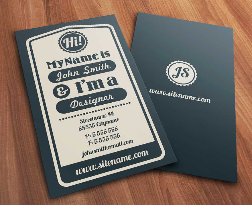 Vintage Typographic Business Card Business Cards Creattica