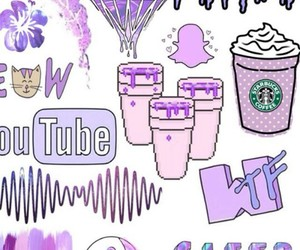 purple, wallpaper, and starbucks image