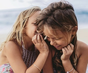 beach, best friends, and family image