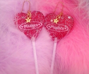 heart, pink, and lollipop image