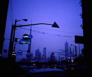 grunge, city, and night image