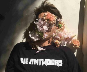 flowers, boy, and grunge image