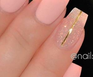 nails, matte, and pink image