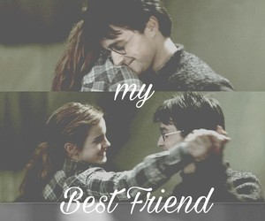 best friend, harry potter, and hermione image