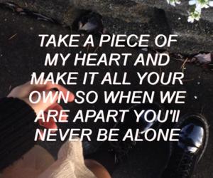 quote, heart, and Lyrics image