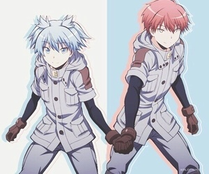 assassination classroom, nagisa shiota, and karma akabane image