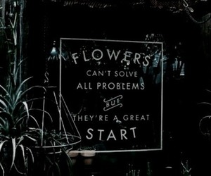 flowers, green, and quotes image