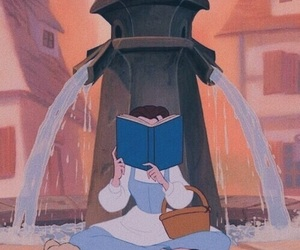 belle, disney, and book image
