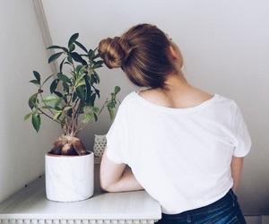 bun, fashion, and hair image
