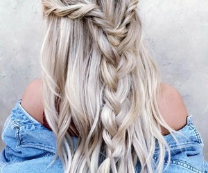 braid, fishtail, and friend image