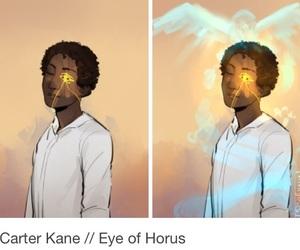 eye of horus, kane chronicles, and carter kane image
