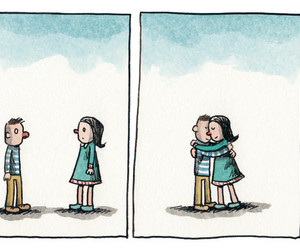 hug, ilustracion, and por liniers image