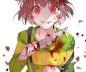 undertale, chara, and blood image