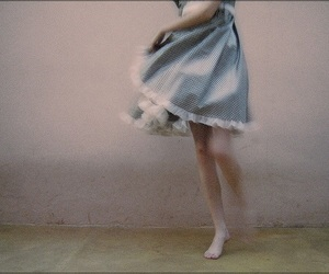 girl, dress, and blue image