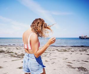 beach, bikini, and denim image