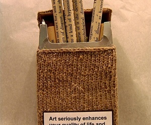 art, cigarette, and black and white image
