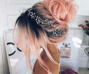 accessories, hairstyle, and wedding image