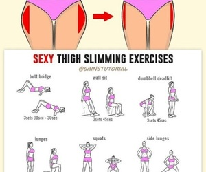 fitness, body, and thigh image