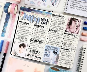 journal, school, and stationery image