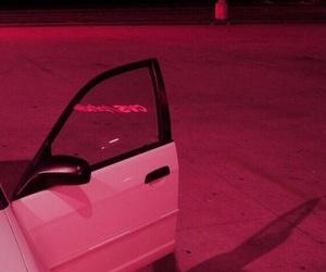 car, pink, and grunge image
