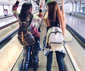 airport, Best, and friend image