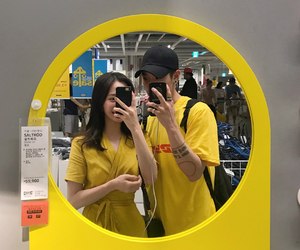 couple, yellow, and korean image
