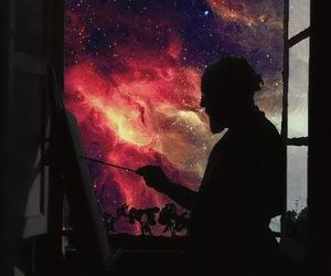 galaxy, art, and paint image