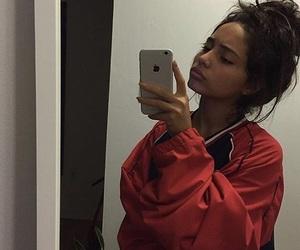 fashion, selfie, and messybun image