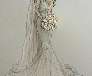 wedding, art, and drawing image